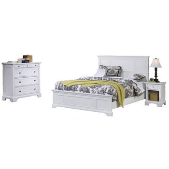 Home Styles Naples White King Bed, Night Stand, and Chest