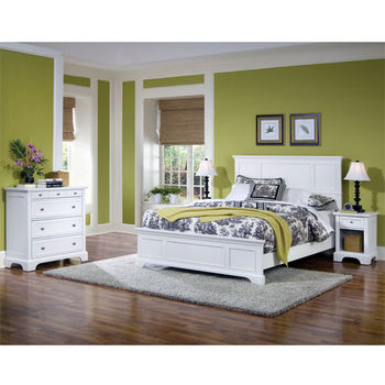 Home Styles Naples White King Bed, 80-3/4'' W x 87'' D x 52'' H