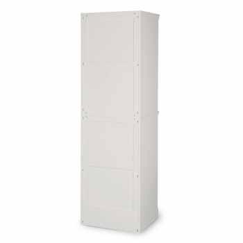"Home Styles Naples Shelf Closet Wall Unit, White, 25""W x 20""D x 82""H"