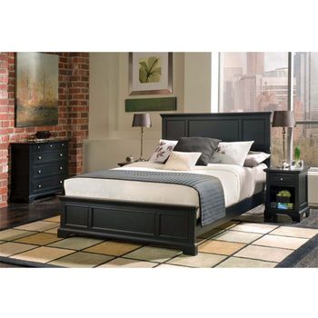 Home Styles Bedford Black King Bed, 80-3/4'' W x 87'' D x 52'' H