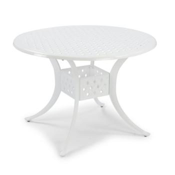 "Home Styles La Jolla Cast Aluminum Outdoor 42"" Round Dining Table in White Powder-Coated Finish, 42""Diameter x 28-3/4"" H"