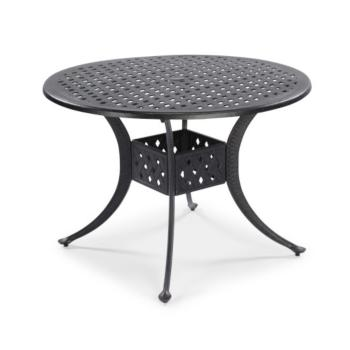 "Home Styles La Jolla Cast Aluminum Outdoor 42"" Round Dining Table in Gray Powder-Coated Finish, 42""Diameter x 28-3/4"" H"