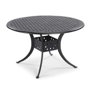 "Home Styles La Jolla Cast Aluminum Outdoor 48"" Round Dining Table in Gray Powder-Coated Finish, 48""Diameter x 28-3/4"" H"
