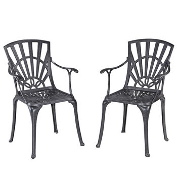Home Styles Largo Collection 23-1/4'' Dining Chair, Set of 2 in Charcoal, 23-1/4'' W x 24'' D x 36'' H