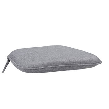 Home Styles Largo Collection 18-1/2'' Polyester Seat Cushion in Gray, 18-1/2'' W x 18'' D x 2'' H
