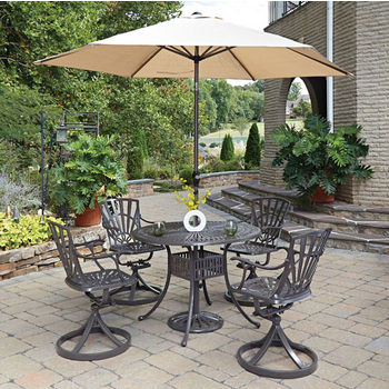 Set w/ 4 Swivel Chairs w/ Umbrella