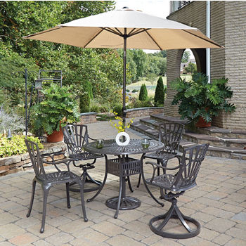 Set w/ 2 Swivel/2 Arm Chairs w/ Umbrella