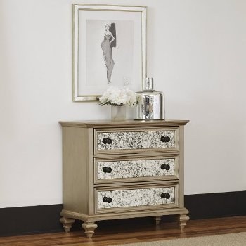 "Home Styles Visions Drawer Chest in Silver/Gold Champagne, 39"" W x 19"" D x 36-1/2"" H"