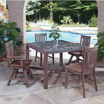 Table w/ 2 Side Chairs/2 Swivel Arm Chairs