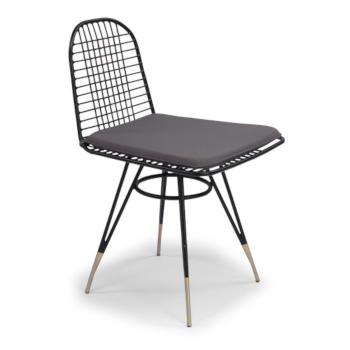 "Home Styles Du Jour Outdoor / Indoor Pair Of Wire Chairs in Black Powder-Coated Finish, 21-1/2"" W x 19"" D x 32-3/4"" H"