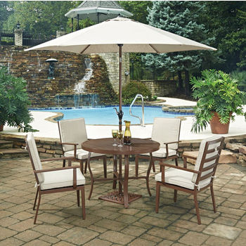 "42-1/2"" Diameter, 4 Arm Chairs, With Umbrella"