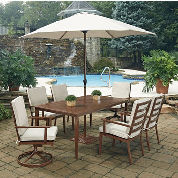 2 Swivel Chairs, 4 Arm Chairs With Umbrella