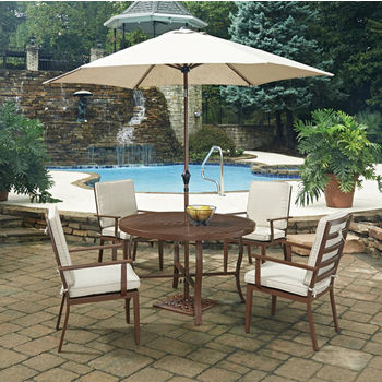 "48"" Diameter, 4 Arm Chairs , With Umbrella"