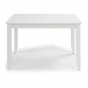 """Home Styles Linear Rectangular Dining Table, White, 48""""W x 36""""D x 30""""H"""