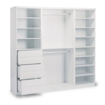 Storage 3-Piece Wall Unit Angle Opened View