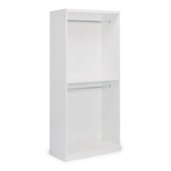 "Home Styles Linear Collection Storage Hanging Unit in White, 36"" W x 20"" D x 82-1/2"" H"
