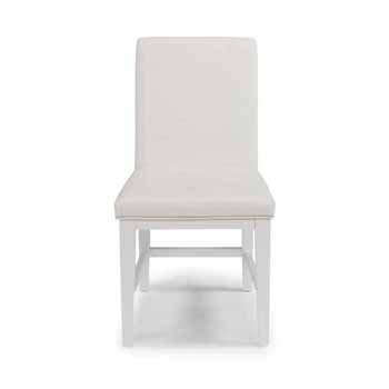"""Home Styles Linear Dining Chair, White, Set of 2, 18""""W x 23-3/4""""D x 35""""H"""