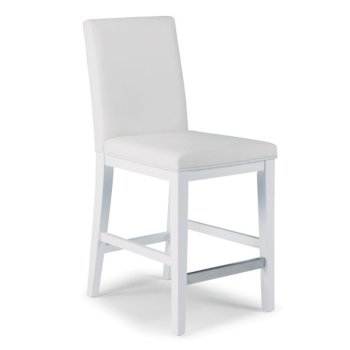 """Home Styles Linear Collection Counter Stool in White, 18"""" W x 21-3/4"""" D x 40-1/2"""" H"""