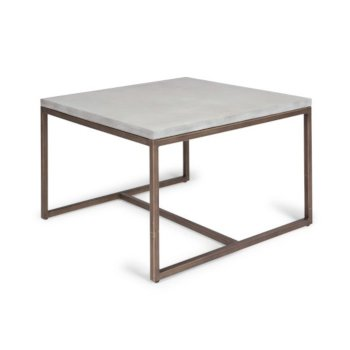 """Home Styles Geometric Collection Coffee Table in Chalky White, 32"""" W x 32"""" D x 20"""" H"""