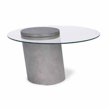 "Home Styles Illusion Glass Top Coffee Table, 90""W x 90""D x 49""H"