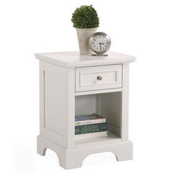 "Home Styles Naples Night Stand, 18"" W x 16"" D x 24"" H, White"