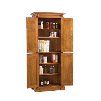 Wood Pantry w/Oak Finish