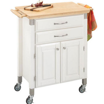 Prep & Serve Carts with Natural Wood Tops by Home Styles