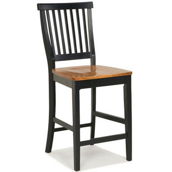 Hardwood Bar Stools with Comfortable Contoured Seats by Home Styles