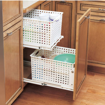 Pull-Out Laundry Hamper and Utility Basket for Kitchen or Vanity