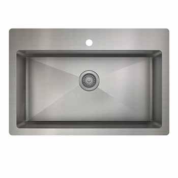 33'' kitchen sink dualmount