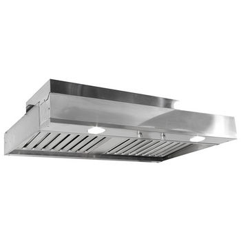 """Imperial Ventilator Power Pack with Dual Blowers & Slim Baffle Filters & 7"""" or 8"""" Round Duct/ Transition, 675 - 810 CFM, Stainless Steel"""