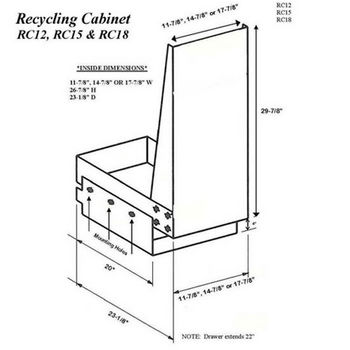 Imperial Trash or Recycling Cabinets
