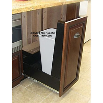 Pull Out Trash Cans Amp Built In Trash Cans Under Cabinet