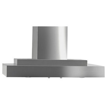 "Imperial Wall Contemporary Range Hood with Slim Baffle Filters & 7"" or 8"" Round Duct/ Transition, 675 - 1370 CFM, Stainless Steel"
