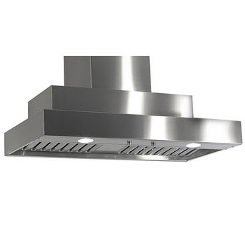 Imperial Wall Mount Series WH2000 Range Hood with Twin Blowers, Baffle Filters & Two Ducts