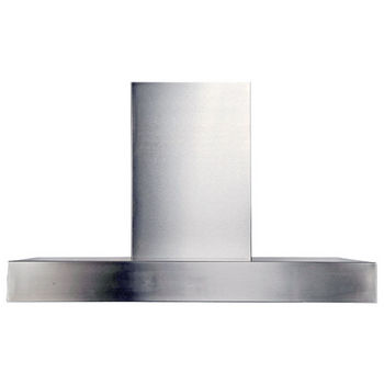 "Imperial Wall Contemporary Slim Range Hood with Slim Baffle Filters & 7"" or 8"" Round Duct/ Transition, Stainless Steel"