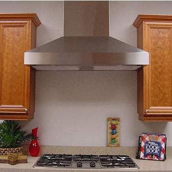 "Imperial WHP1900 Wall Mount Chimney Range Hood by Imperial, with 8"" Duct Booster,  Stainless Steel"