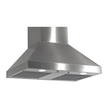 Imperial Wall Pyramid Range Hood with Air Ring Fan, 400 CFM
