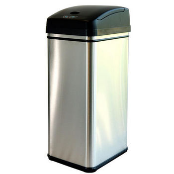 Trash Cans- Deodorizer 13 Gallon Stainless Steel Automatic ...