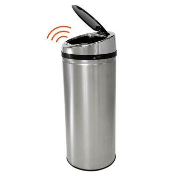 iTouchless 13-Gallon Stainless Steel Touchless Trash Can