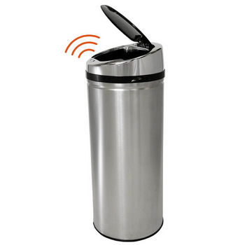 Fully Automatic Stainless Steel iTouchless Trashcan® NX 8 Gallon
