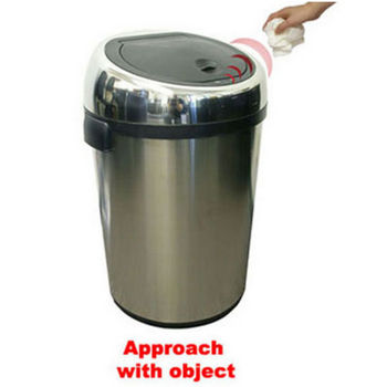 iTouchless 23-Gallon Stainless Steel Touchless Trash Can