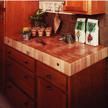 "John Boos Maple Butcher Block Island Tops 2¼""H"