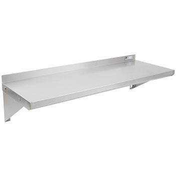 John Boos BHSG Series Galvanized Wall Mounted Shelf in Multiple Sizes