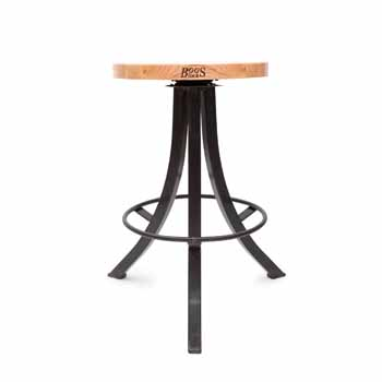24'' Wrinkle Black Base - Appalachian Red Oak Wood - Display View