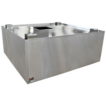 John Boos 450-800 CFM Commercial Condensate Hood in Multiple Sizes, 18-Gauge Stainless Steel