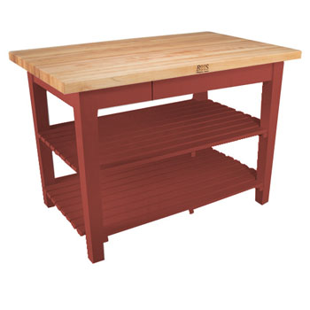 Barn Red Base, 2 Shelves