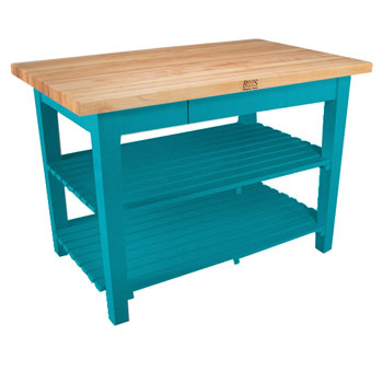 Caribbean Blue Base, 2 Shelves