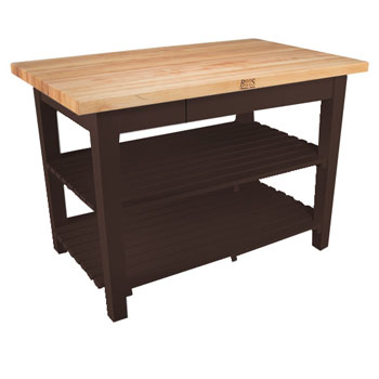 Walnut Stain Base, 2 Shelves