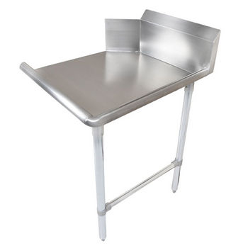 "John Boos Pro Bowl ""Clean Straight Dishtable"" for Left or Right Side with Galvanized Steel Legs & Stainless Steel Top"